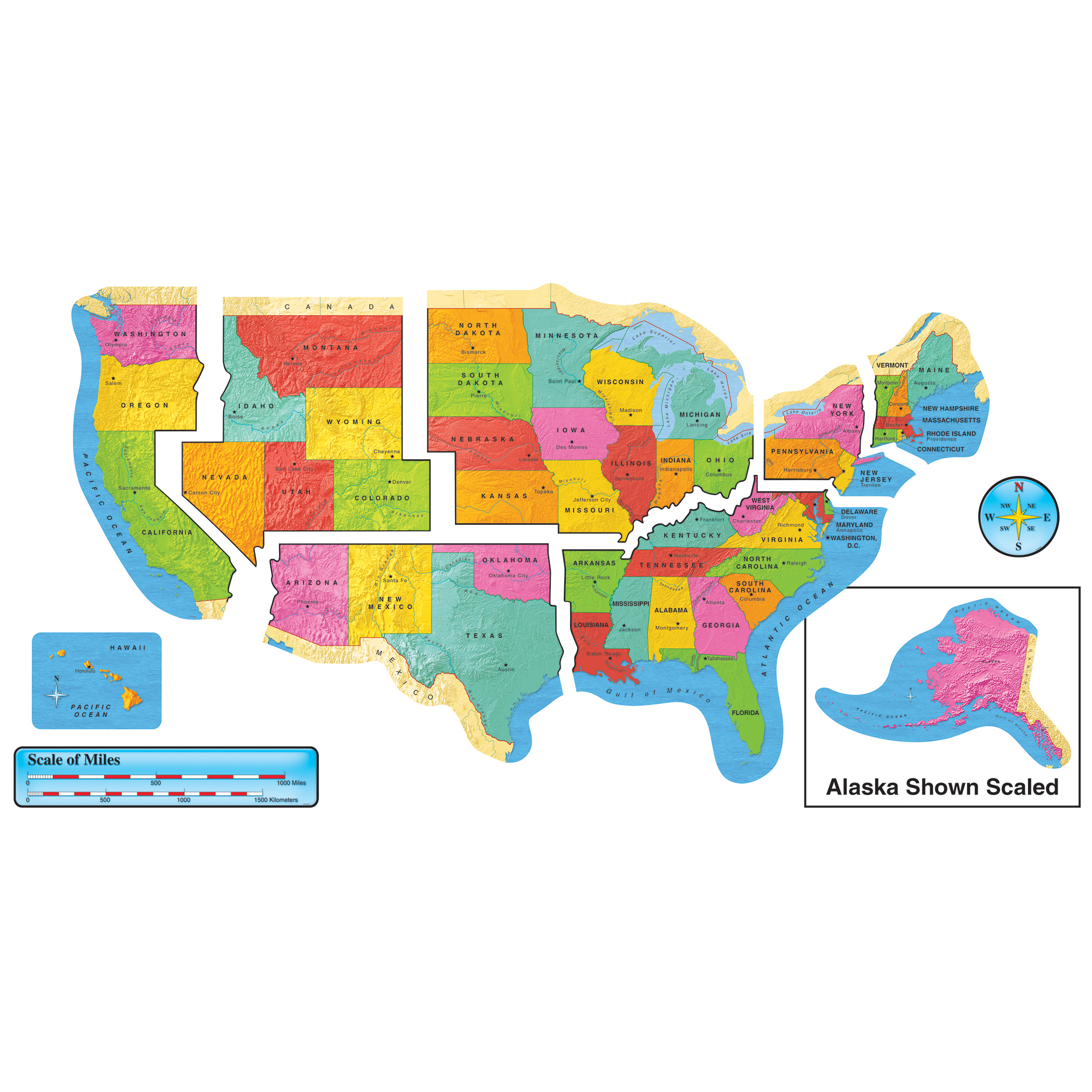 Picture of: The Teachers Lounge United States Map Bulletin Board Set